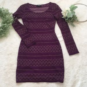 Guess Long Sleeve Lace Dress EUC